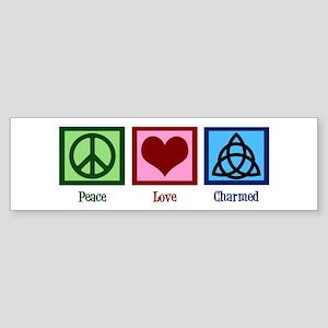 Peace Love Charmed Sticker (Bumper)