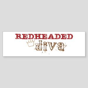 Redheaded Irish Diva Bumper Sticker
