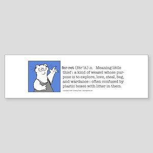 Ferret Definition Bumper Sticker
