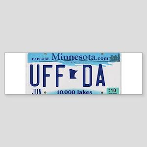 """Minnesota """"Uffda"""" Sticker (Bumper)"""