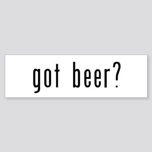 got beer? Sticker (Bumper)