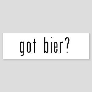 got bier? Sticker (Bumper)