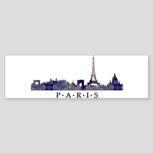 Mosaic Skyline of Paris France Bumper Sticker