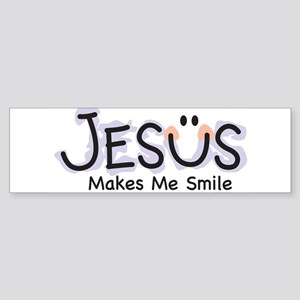 Jesus Makes Me Smile Bumper Sticker