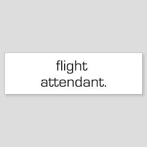 Flight Attendant Bumper Sticker