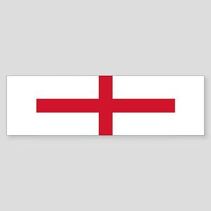 England St George's Cross Flag Sticker (Bumper)
