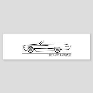 1966 Ford Thunderbird Convert Sticker (Bumper)