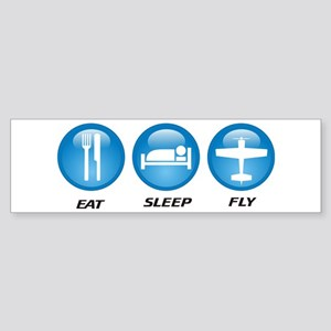 Eat Sleep Fly II Sticker (Bumper)