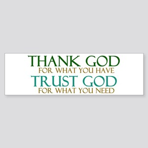 Thank God - Trust God Sticker (Bumper)