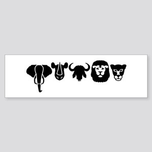 Africa animals big five Sticker (Bumper)
