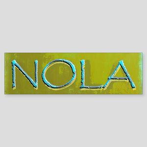 NOLA OLIVE TURQ Bumper Sticker