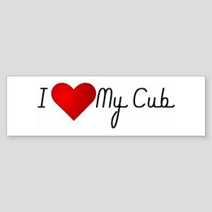 I Heart My Cub Bumper Sticker
