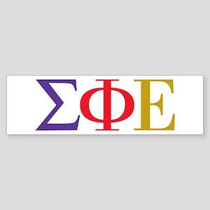 Sigma Phi Epsilon Initials Bumper Sticker