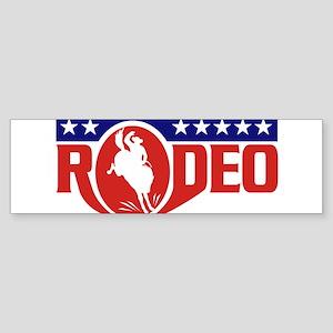 rodeo cowboy bronco Sticker (Bumper)