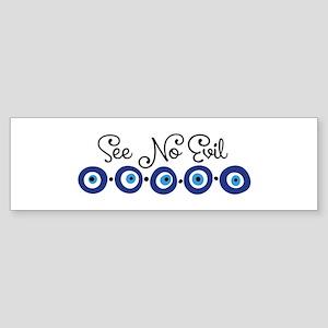 See No Evil Bumper Sticker