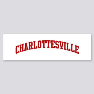 CHARLOTTESVILLE (red) Bumper Sticker