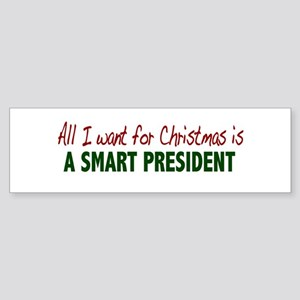 Smart President for Christmas Bumper Sticker