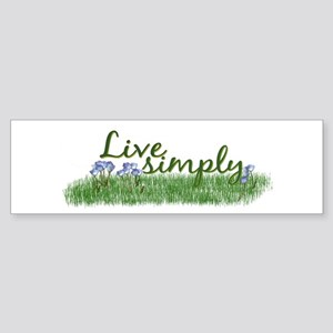 Live Simply (Flowers) Bumper Sticker