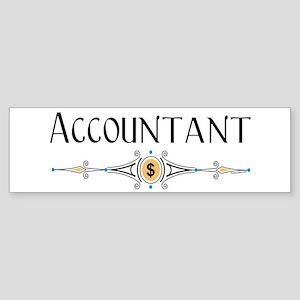 Accountant Decorative Line Bumper Sticker