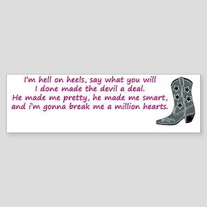 hell on heels Sticker (Bumper)