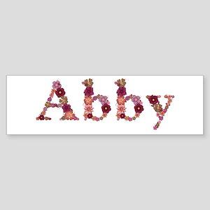 Abby Pink Flowers Bumper Sticker