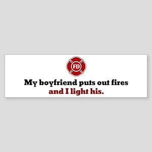 I Light His Fire Bumper Sticker