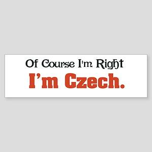 I'm Czech Bumper Sticker