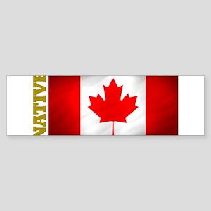 Canada Native Bumper Sticker