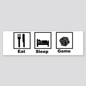 Eat, Sleep, Game Role Playing Bumper Sticker
