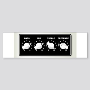 Guitar Ampifier Chicken Head Tone K Bumper Sticker