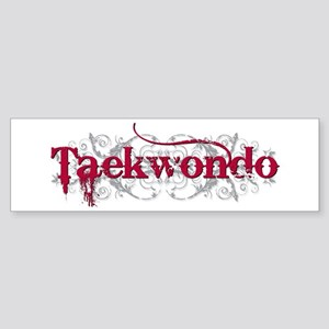 Taekwondo Red Bumper Sticker