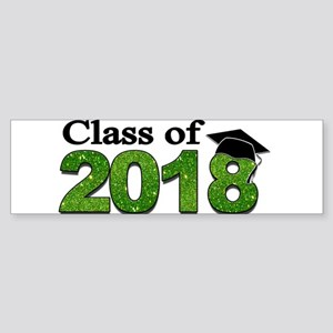 Class of 2018 Glitter Bumper Sticker