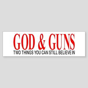 GOD AND GUNS Sticker (Bumper)