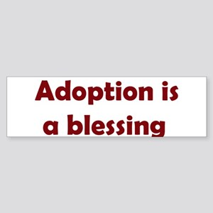 Blessing (maroon writing) Bumper Sticker
