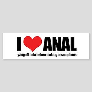 I Love Anal-yzing Sticker (Bumper)