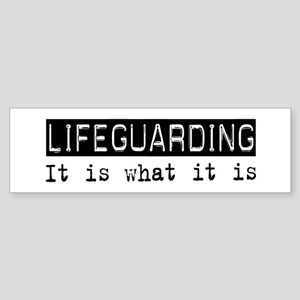 Lifeguarding Is Bumper Sticker