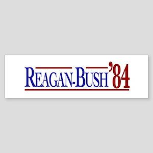 Reagan-Bush 84 Presidential E Sticker (Bumper)