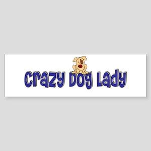 Crazy Dog Lady Bumper Sticker