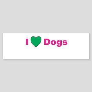 I Love Dogs Sticker (Bumper)