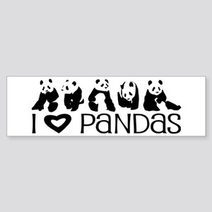 I Heart Pandas Sticker (Bumper)