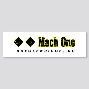 Ski Breckenridge, Mach One, Double Bumper Sticker