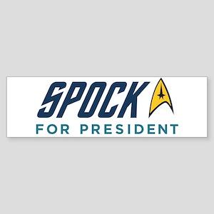 Spock for President Sticker (Bumper)