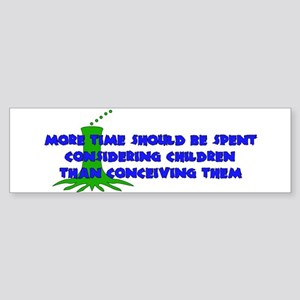 Think More Breed Less Bumper Sticker