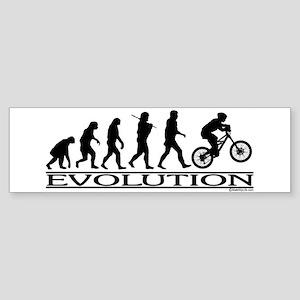 Evolution (Mt. Biking) Bumper Sticker