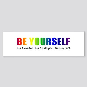 Be Yourself (Rainbow) Sticker (Bumper)