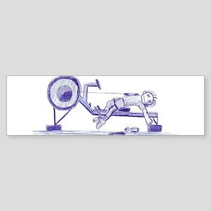 Ergometer rowing sketch Bumper Sticker