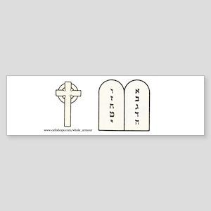 Cross and Ten Commandments - Bumper Stickers!