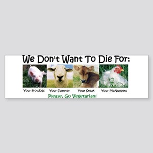 Animal Voices Bumper Sticker
