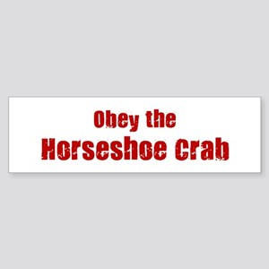 Obey the Horseshoe Crab Bumper Sticker