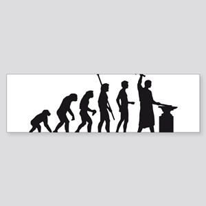 evolution blacksmith Sticker (Bumper)